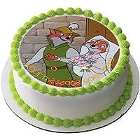 Robin Hood & Maid Marion - Decoración comestible para tarta (19 cm), diseño