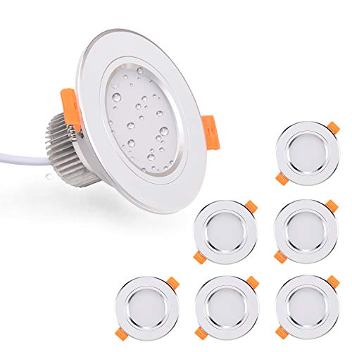 Foco Empotrable Led Kimjo 6 x 7W Blanco Frío 6000K 700LM IP44...