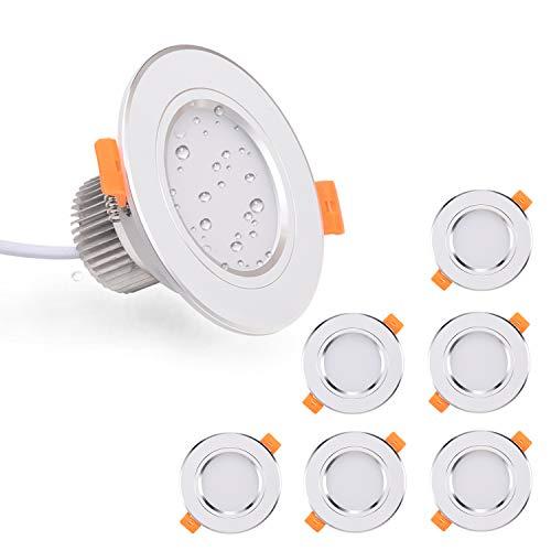 Foco Empotrable LED Techo Kimjo, 6 x 7W Blanco Frío 6000K 700LM...