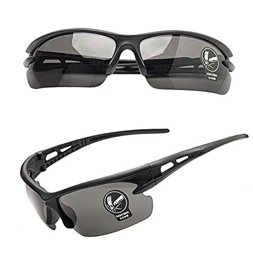 Sport-Sonnenbrille für Damen und Herren zum Fahrradfahren, Joggen, Autofahren, Schwarz