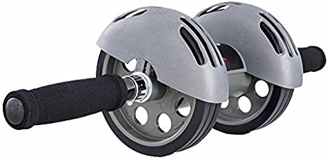 Perfect Dual Wheel Total Body Exerciser Trimmer Solid Body Fitness Workout - Ab Roller Ab Wheel Abdominal Workout Roller For Ab Exercises. Cushioned Handles Weight Loss Kit for Men & Women (Random Color As per Stock)