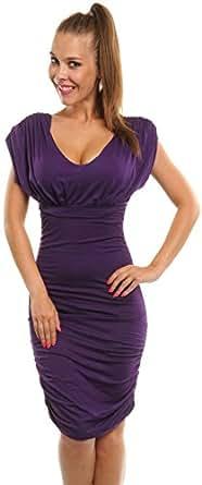 Glamour Empire -  Vestito  - fasciante - Basic - Senza maniche  - Donna Purple XXXL 48 /18