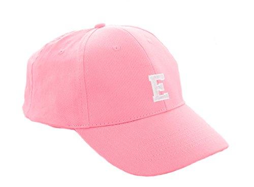 Unisex Jungen Mädchen Mütze Baseball Cap Rosa Hut Kinder Kappe A-Z Letter MFAZ Morefaz Ltd (E) (Baseball-mütze Kleiner Junge)