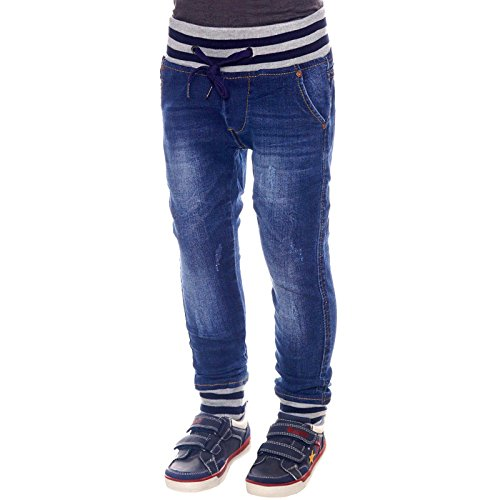 4bba0867e010d4 Jungen Jeans Kinder Hose Biker Style Riss Akzente Strech Jeanshosen 21716