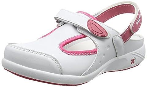 Oxypas Move Carin Slip-resistant, Antistatic Nursing Shoes, White (Fux) , 6.5 UK (EU: 40)