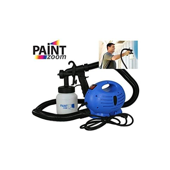 Saiyam Paint Zoom Electric Portable Sprayer Machine Ultimate Professional Home Office Oil Painting Machine (Blue)