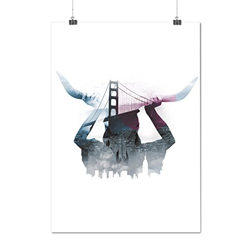 horn-city-urban-bridge-sf-san-francisko-matte-glossy-poster-a3-42cm-x-30cm-wellcoda
