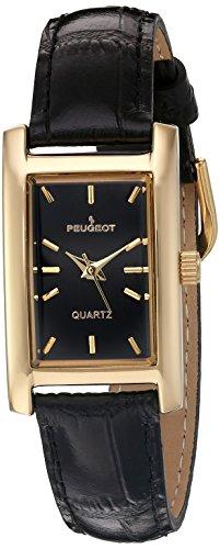 peugeot-womens-3007bk-gold-tone-black-leather-strap-watch