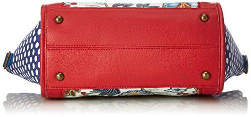 LAURA VITA Damen Dax Schultertasche, 12x23x26 cm Rot (Rouge)