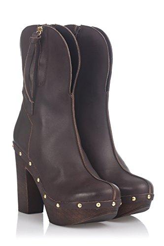 Laura Moretti Swedish Nailed Boot, Stivaletti Donna Marrone