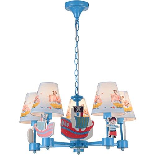 Kinder Schlafzimmer Kronleuchter Scandinavian Boat Jungen Studie pastoral Mittelmeer Mode Persönlichkeit Cartoon-Lampen - 2