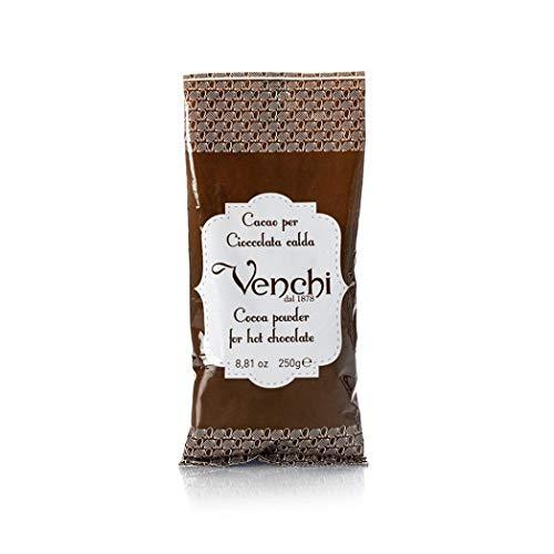 Preparato per Cioccolata Calda VENCHI Busta da g 250 (10 tazze) Miscela di Cacao 22/24 per una cioccolata calda profumata e densa come da tradizione italiana. Prodotto senza glutine