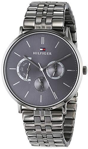 Tommy Hilfiger Herren Multi Zifferblatt Quarz Uhr mit Edelstahl Armband 1710374