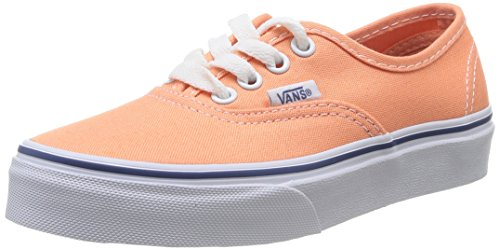 Vans Authentic, Baskets mode Mixte enfant Orange (Canteloupe/True White)