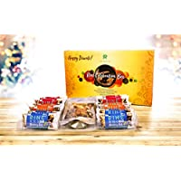 Rine Bars Gift Pack Sugar Free Granola and Cereal Bars for Breakfast and Snacks, Celebration Box - Diwali Special (Pack of 12 Bars, Trail Mix), 12 X 50 g
