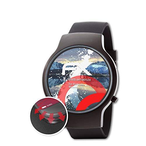 atFoliX Schutzfolie passend für Runtastic Moment Elite Folie, entspiegelnde & Flexible FX Bildschirmschutzfolie (3X)