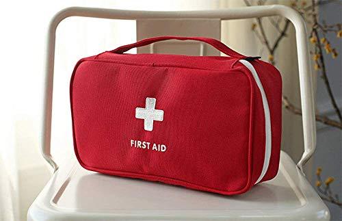 ZJDU Erste-Hilfe-Tasche, Tragbare Outdoor-Reise Kleine Rettungssack Faltbare Tasche Eva Hard Case First Responder Für Camping Sport (rot Mit Griffen) -