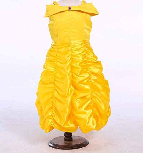 YZLL Kinder Prinzessin Kleid Dress Little Girl Princess Dresses Dress Up Halloween Partykleider gelb,80CM
