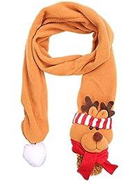 d24acbf10523 Chytaii Écharpe Foulard Noël Confortable Longue Décoration pour Enfant  Fille Garçon Hiver Automne avec Poupée Mignonne