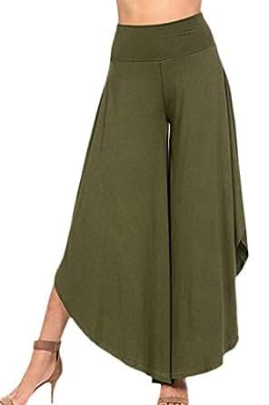 Bild nicht verfügbar. Keine Abbildung vorhanden für. Farbe  BIRAN-55  Hosenrock Damen Elegante Sommerhose High Waist Unifarben Skort Bottom  Palazzo Hosen ... a899d37861