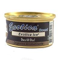 Exotica Ice Organic Air Freshener, H6 x W6 x D3.4 cm