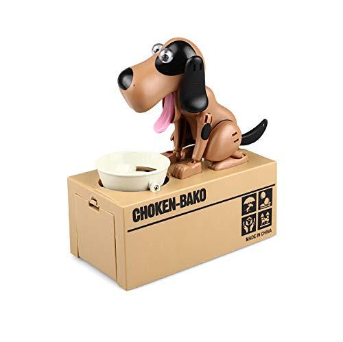 (TianranRT Automatisiert Hund Stehlen Münze Bank Piggy Bank Geld Sparen Box Geschenk Hübsch (A))