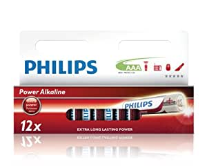 Philips - Pile Alcaline - AAA x 12 - Powerlife (LR03)