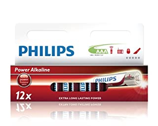 Philips LR03P12W AAA - Pilas AAA (Alkaline, 1.5 V, 12 unidades) (B003XQLAM0) | Amazon price tracker / tracking, Amazon price history charts, Amazon price watches, Amazon price drop alerts