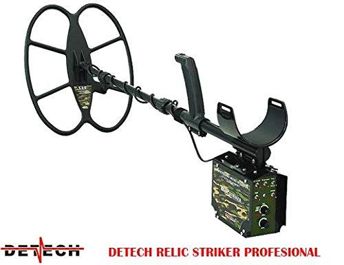 DETECH Detector de Metales Relic Striker 4,8 kHz VLF con Bobina SEF de 18 x 15 Pulgadas,...