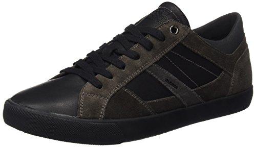 Geox U Smart D, Baskets Basses Homme Schwarz (BLACK/DK GREYC0005)