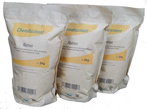 6kg (3x2kg) Natron im Kraftpapier-Standbodenbeutel (wiederverschließbar), versandkostenfrei, Lebensmittelqualität
