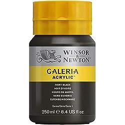 Winsor & Newton Galeria Acrylic - Pintura acrílica (250ml), color negro
