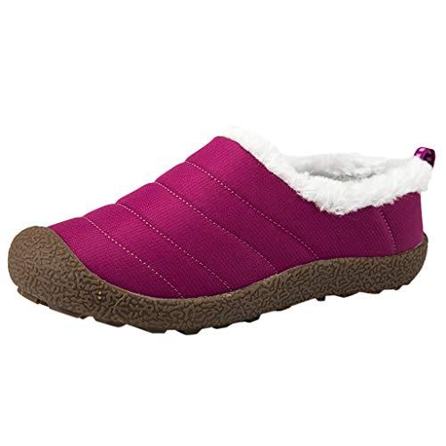 HDUFGJ Damen Trekking-& Wanderschuhe Velvet Schneeschuhe Wanderschuhe Outdoor-Schuhe Sneaker Leichtgewicht rutschfeste Laufschuhe Bequem Mode Freizeitschuhe Faule Schuhe turnschuhe38(Hohe Hilfe)