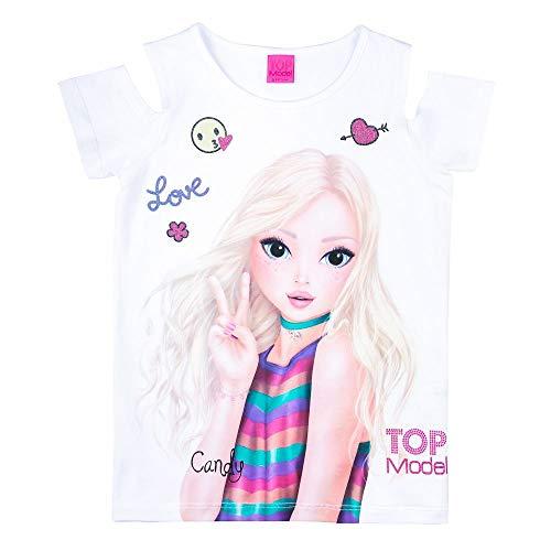 Top Model Mädchen T-Shirt Kurzarm Cut Out Candy 85060(152)