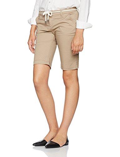 ONLY NOS Damen Onlparis L Long Chi Belt Shorts Pnt Noos, Braun (Desert Taupe), 38