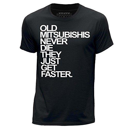 stuff4-herren-mittel-m-schwarz-rundhals-t-shirt-old-mitsubishis-never-die
