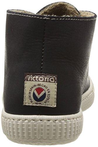 Victoria Safari Piel Tintada Pelo, Scarpe a Collo Alto Unisex-Adulto Nero (Noir (Negro))