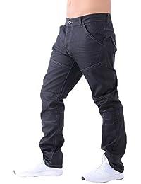 Neue Mens Designer Schraffur beschichtet regelmäßig Fit Straight Leg Jeans  Hose Denim c1b6b36d82