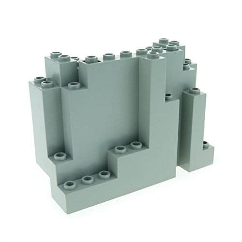 1 x Lego System Fels alt-hell grau gross Felsen Stein Berg Klippe Panele für Set Western Cowboys Indians Castle 6082 (Große Felsen)