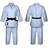 Judo Traje Blanqueado Blanco yudo Uniforme, Trajes de yudo para niños, Judo Adulto Kimono. Traje de Entrenamiento de Yute Blanco (3/160 cm Adultos)