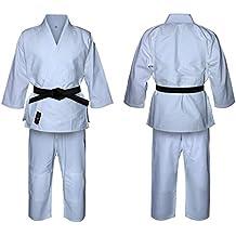 Uniforme de Judo en blanco lejía, para niños y adultos, kimono. Trajes blancos