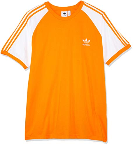 adidas Herren 3-Stripes T-Shirt, Bright Orange, S