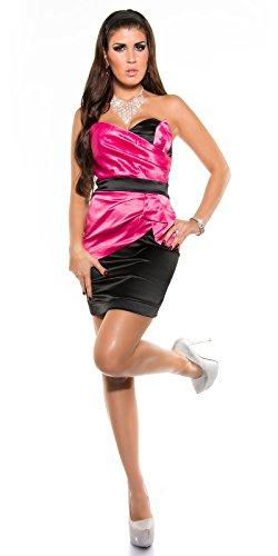 In-Stylefashion - Robe - Femme Noir Noir - Pinkschwarz