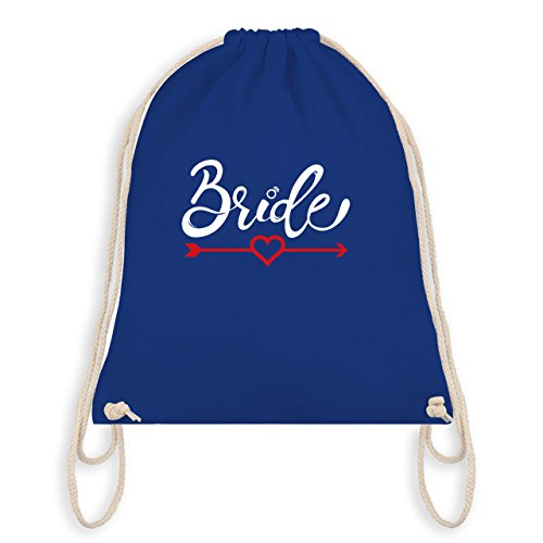 JGA Junggesellinnenabschied - Bride - Herz mit Pfeil - Turnbeutel I Gym Bag Royalblau