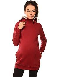 1a5bb0620 Purpless Maternity 2in1 Embarazo y Lactancia Sudadera con Capucha con  Cremallera 9052