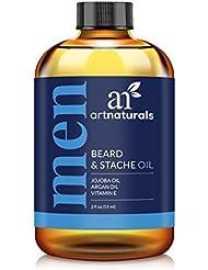 Art Naturals Huile à Barbe Bio et Soin Sans Rinçage 59ml - 100% Pure et Naturelle, Sans Parfum - Produit de...