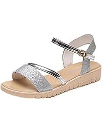 Vovotrade Brillante Zapatos de los zapatos de la plataforma de las sandalias de las mujeres de la cabeza de los pescados del mollete del verano los 3cm