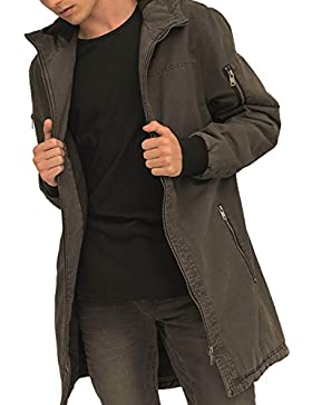 trueprodigy Casual Hombre marca Chaqueta Parka militar ropa retro vintage rock vestir moda con capucha deportivo...