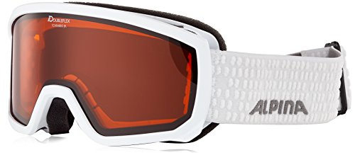 Alpina Kinder Scarabeo Jr. Skibrille, Weiß, One Size