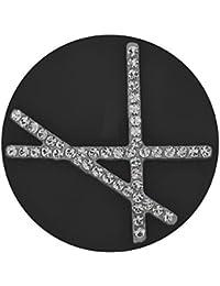 MY iMenso Keramik Insignie schwarz 33 mm mit weißen Zirkonia, 33-1122